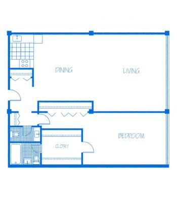 Promenade-1Bedroom-B